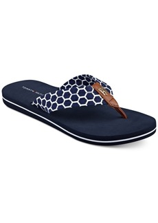 Tommy Hilfiger Cargo Flip-Flop Sandals Women's Shoes