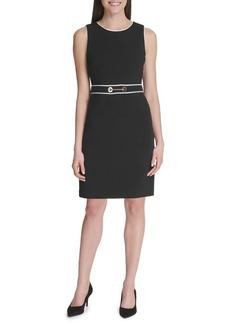 Tommy Hilfiger Chain Contrast Sheath Dress