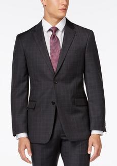 Tommy Hilfiger Charcoal Windowpane Modern-Fit Jacket