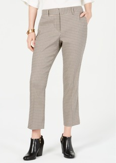 Tommy Hilfiger Check-Print Ankle Pants, Created for Macy's