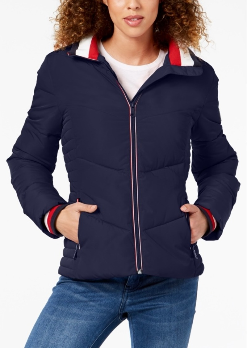 8aabeb970 Chevron Quilted Puffer Coat