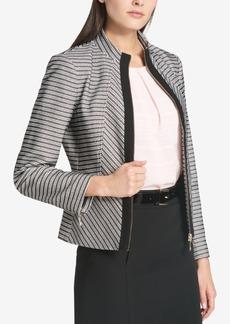 Tommy Hilfiger Chevron-Striped Zip-Up Jacket