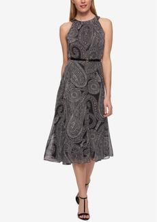 Tommy Hilfiger Chiffon Paisley-Print Midi Dress