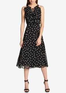 Tommy Hilfiger Chiffon Polka-Dot Dress