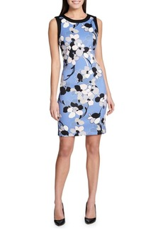 Tommy Hilfiger Clarice Scuba Printed Sleeveless Sheath Dress
