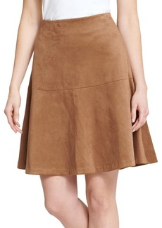 Tommy Hilfiger Classic Faux Suede Flared Skirt