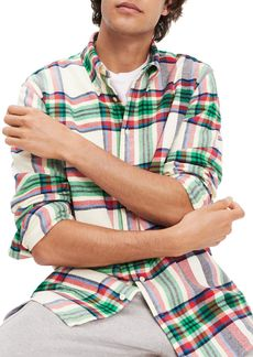 Tommy Hilfiger Classic Fit Flannel Button-Down Shirt