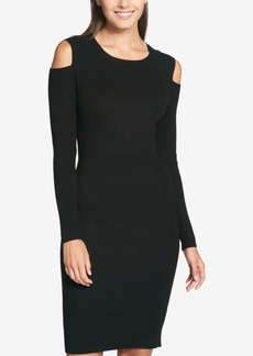 Tommy Hilfiger Cold-Shoulder Ribbed Dress, Created for Macy's