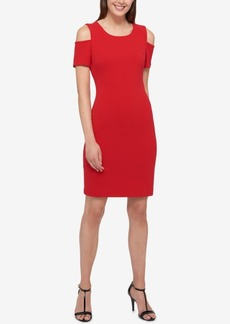 Tommy Hilfiger Cold-Shoulder Sheath Dress