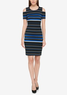 Tommy Hilfiger Cold-Shoulder Striped Dress