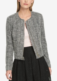 Tommy Hilfiger Collarless Tweed Jacket