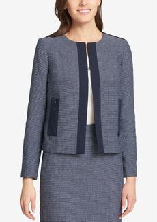 Tommy Hilfiger Collarless Tweed Jacket