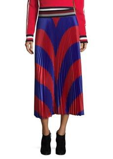 Tommy Hilfiger Colorblock Pleated Midi Skirt