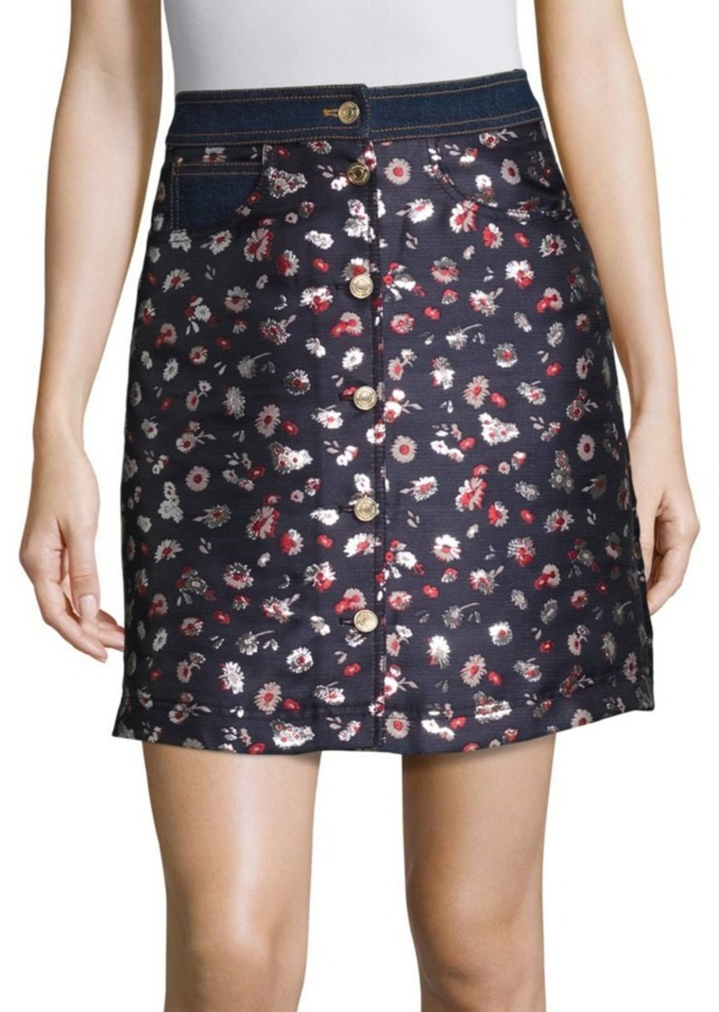 Tommy Hilfiger Collection Jacquard Floral Printed Skirt