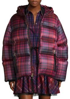 Short Tartan Down Jacket