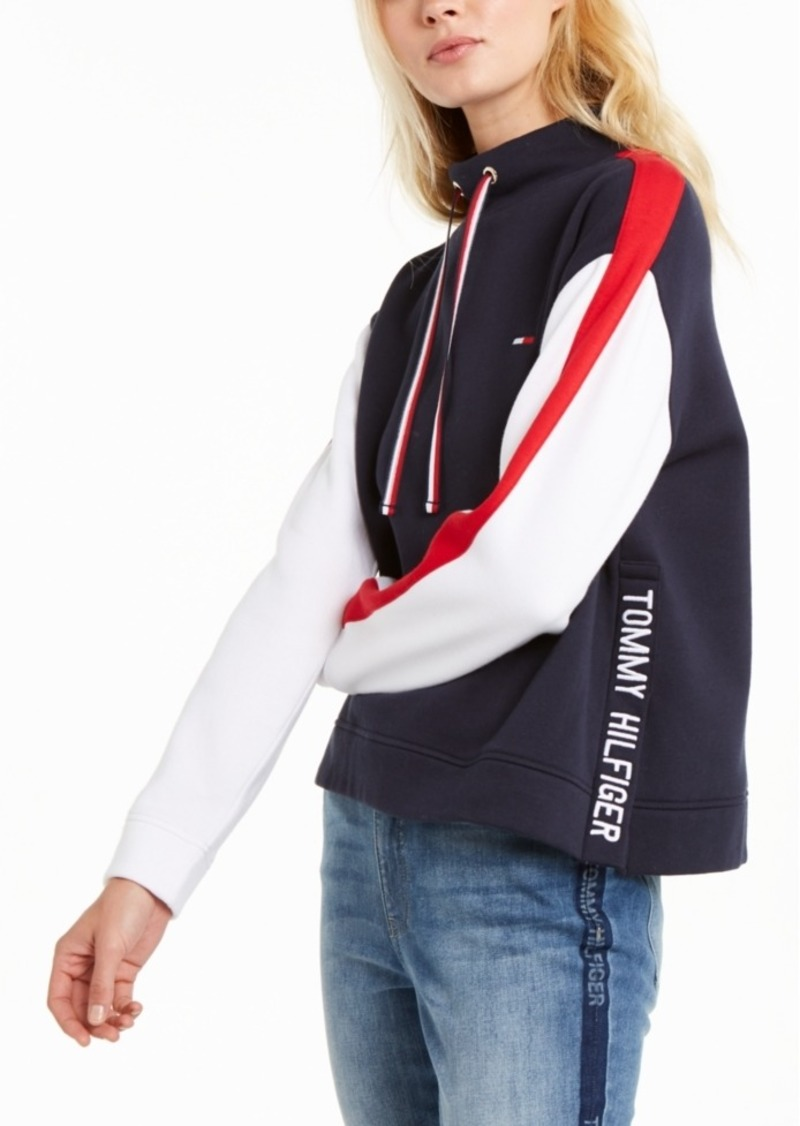 Tommy Hilfiger Colorblock Cowlneck Sweatshirt, Created For Macy's