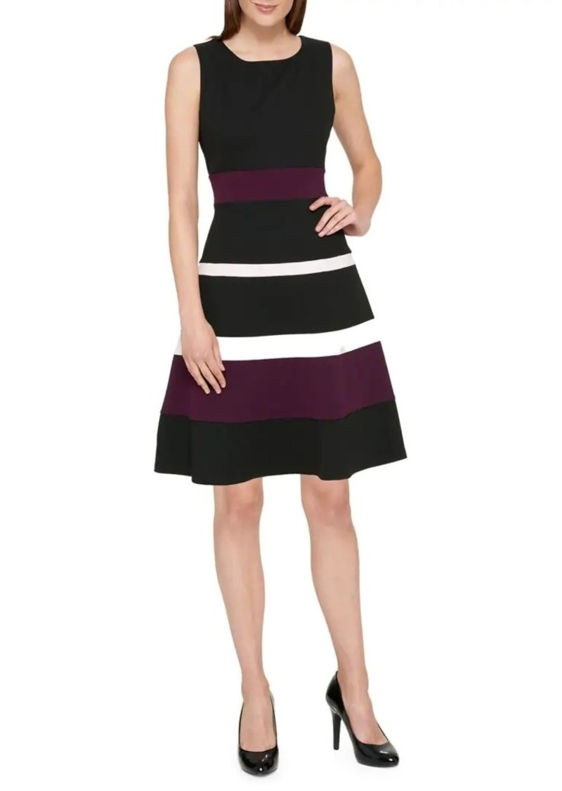 Tommy Hilfiger Colorblock Fit-&-Flare Dress