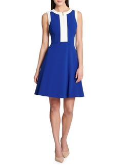 Tommy Hilfiger Colorblock Fit-and-Flare Dress