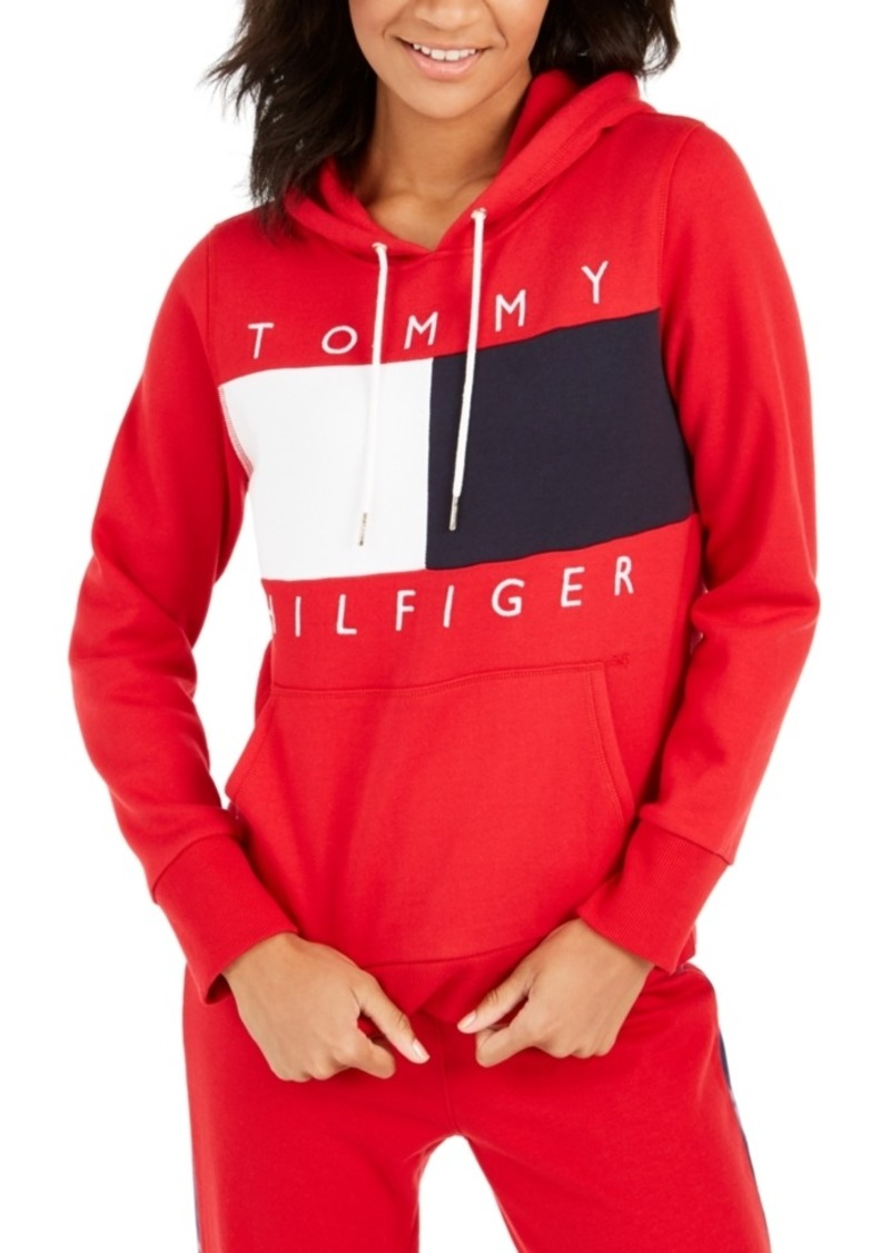 Tommy Hilfiger Colorblock Hooded Sweatshirt, Created For Macy's