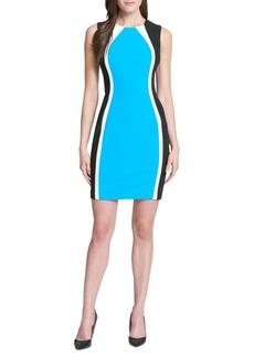 Tommy Hilfiger Colorblock Scuba Crepe Sheath Dress