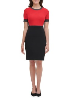 Tommy Hilfiger Colorblock Scuba Sheath Dress