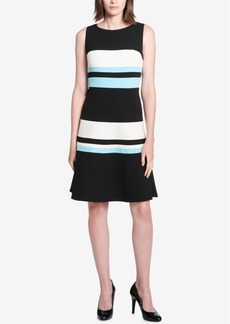 Tommy Hilfiger Colorblock Striped Scuba Dress