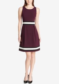 Tommy Hilfiger Colorblocked A-Line Dress