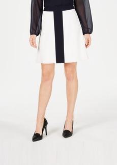 Tommy Hilfiger Colorblocked A-Line Skirt