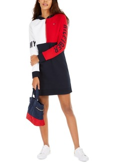 Tommy Hilfiger Colorblocked Hoodie Dress