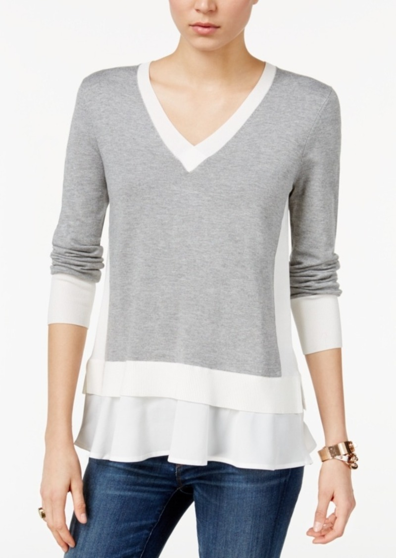 Tommy Hilfiger Colorblocked Layered-Look Top, Only at Macy's