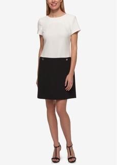 Tommy Hilfiger Colorblocked Pocket Shift Dress