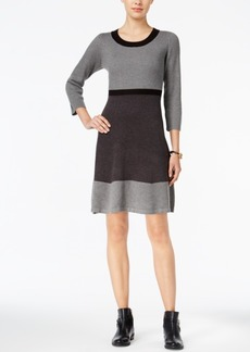 Tommy Hilfiger Colorblocked Ribbed Sweater Dress