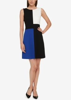 Tommy Hilfiger Colorblocked Scuba A-Line Dress