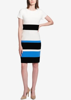Tommy Hilfiger Colorblocked Scuba Crepe Dress