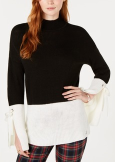 Tommy Hilfiger Colorblocked Split-Cuff Sweater, Created for Macy's