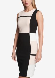 Tommy Hilfiger Colorblocked Striped Sheath Dress