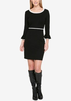 Tommy Hilfiger Contrast Bell-Sleeve Sweater Dress
