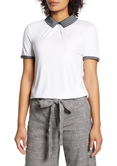 Tommy Hilfiger Contrast Collar Top