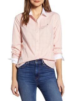 Tommy Hilfiger Contrast Detail Gingham Cotton Poplin Shirt