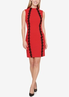 Tommy Hilfiger Contrast Lace-Trimmed Sheath Dress