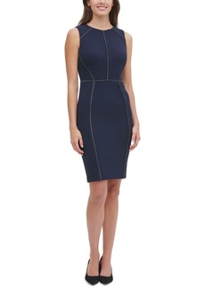 Tommy Hilfiger Contrast-Stitch Sheath Dress