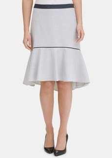 Tommy Hilfiger Contrast-Trim Ruffled Skirt, Created for Macy's