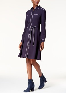 Tommy Hilfiger Contrast-Trim Shirtdress, Created for Macy's
