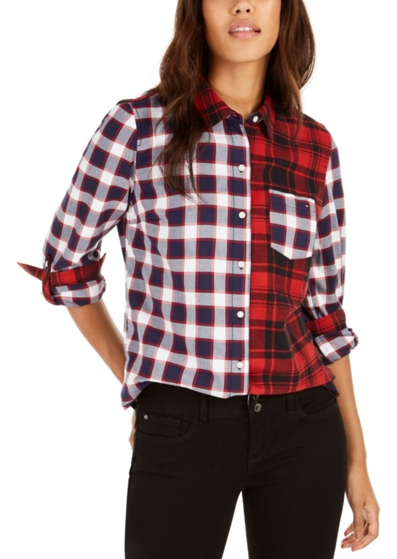 Tommy Hilfiger Cotton Backcountry Plaid Utility Shirt