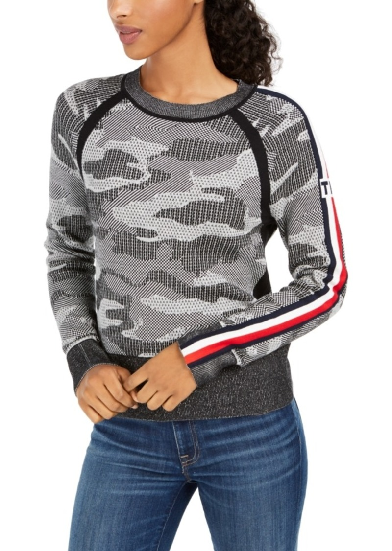 Tommy Hilfiger Cotton Camo Jacquard Sweater
