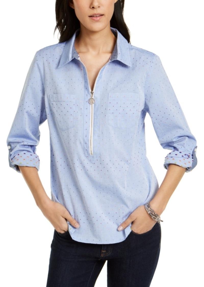 Tommy Hilfiger Cotton Colorful Clip-Dot Utility Shirt