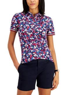 Tommy Hilfiger Cotton Floral-Print Puff-Sleeve Polo