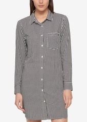 Tommy Hilfiger Cotton Houndstooth Shirtdress, Created for Macy's