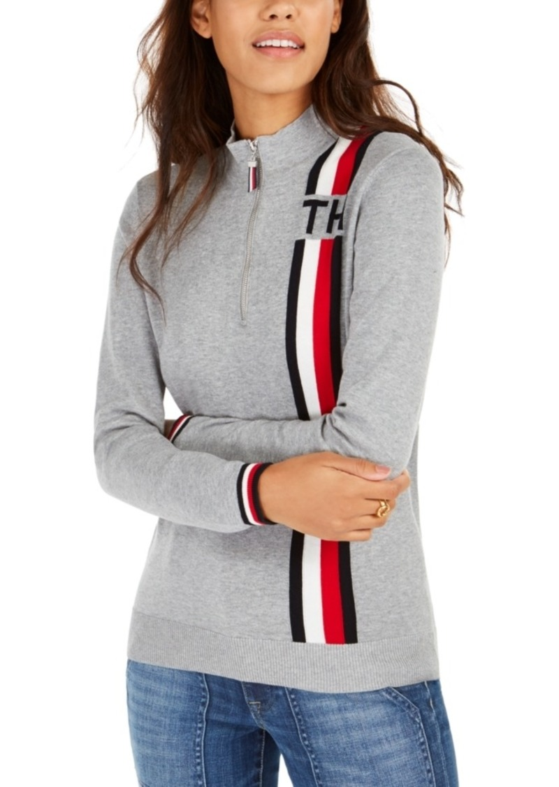Tommy Hilfiger Cotton Mock-Neck Zip Sweater