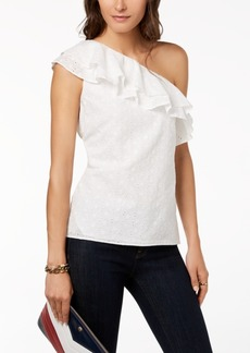 Tommy Hilfiger Cotton One-Shoulder Top, Created for Macy's